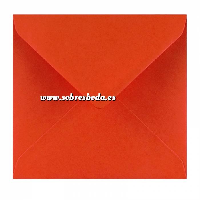 Imagen Sobres Cuadrados Sobre rojo Cuadrado (Rojo Amapola)
