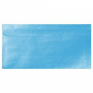 Sobre Americano DL 110x220 - Sobre Perlado celeste DL (Azul Bebé)
